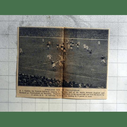 1946 England Win Rugby At Twickenham, K I Geddes