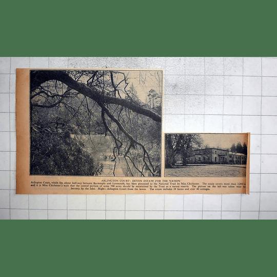 1946 Arlington Court, Devon Estate For The Nation, Miss Chichester