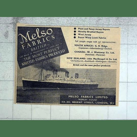 1946 Melso Fabrics Ltd, Morley House Regent Street London