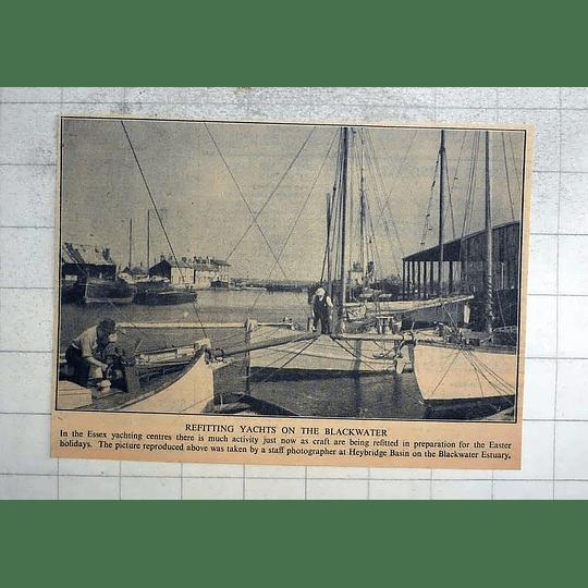 1946 Refitting Yachts, Heybridge Basin On The Blackwater Estuary