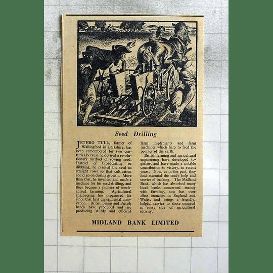 1946 Midland Bank And Jethro Tull, Berkshire Wallingford Seed Drill