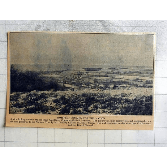 1946 Woodlands Common, Holford Somerset Gifted By Geoffrey Luttrell To Nation