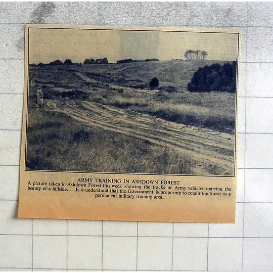 1946 Tracks Of Army Vehicles Spoiling The Beauty Ashdown Forest Hillside