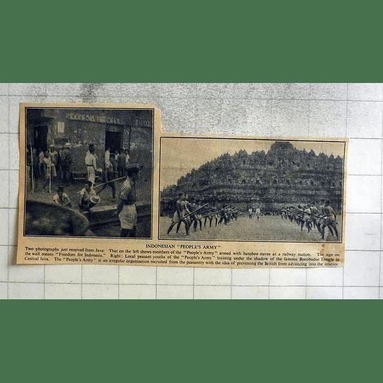 1946 Indonesian People's Army Training Under Borobudur Temple
