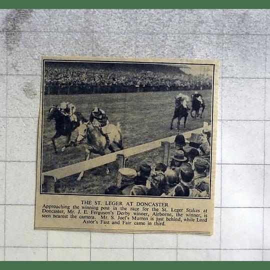 1946 St Leger At Doncaster Won By Mr Ferguson's, Airborne