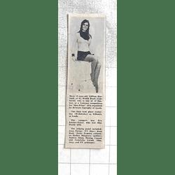 1974 19-year-old Gillian Harbard, Camborne Finalist In Miss Print 1974