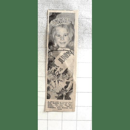1974 Little Richelle Uren, Camborne Wins Miss Karrier Junior Title Helston