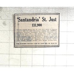 1974 Recently Erected House, Santandria, St Just, £11,900