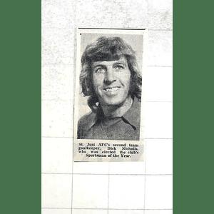 1974 St Just Afc Second-team Goalkeeper Dick Nicholls
