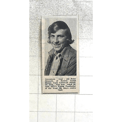 1974 St Just Afc Young Footballer, 17-year-old Peter Bennett
