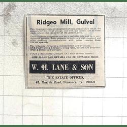 1974 Ridgeo Mill, Gulval, Courtyard Development Properties From £10,500
