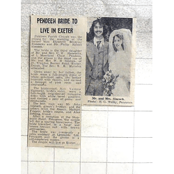 1974 Elizabeth Hancocks Weds Philip Simcock, Pendeen Parish Church