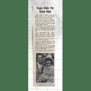 1974 Rosemary Pearce Marries Walter Cornew, Truro