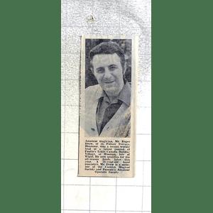 1974 Amateur Magician, Roger Drew, Heamoor Wins Talent Contest