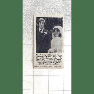 1974 Mr B Long Hurland Farm Godolphin Cross With Bride Miss Craft