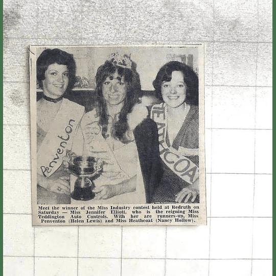 1974 Miss Industry, Jennifer Elliott, Helen Lewis, Nancy Hollow At Eredruth