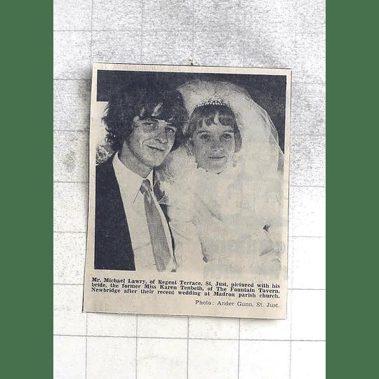 1974 Mr Michael Lawry, St Just With Bride Karen Tenbeth