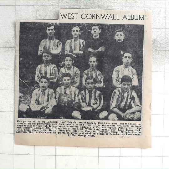 1974 1st Camborne Boys Brigade Soccer Team 1908, Hosking, Barre, Pentecost