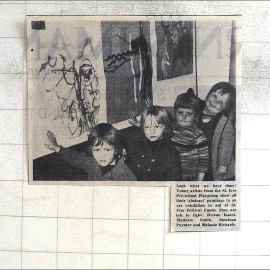 1974 Young Artists St Ives Dickon Isaacs, Matthew Smith Jonathan Paynter