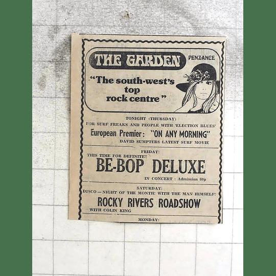 1974 The Garden, Penzance, Bebop Deluxe, Rocky Rivers Roadshow