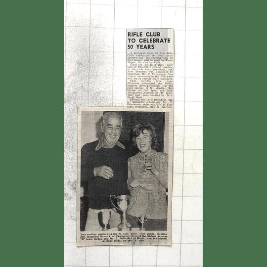 1974 St Ives Rifle Club, Mrs Margaret Kernick Mr Delbridge, Hayle