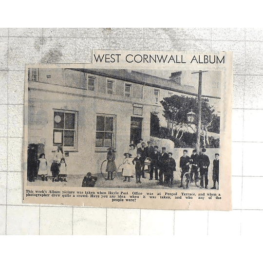 1974 Hayle Post Office Situated At Penpol Terrace, Crowd Of Children