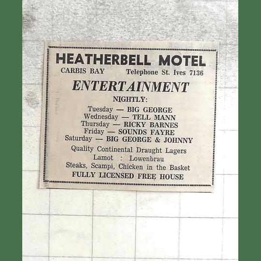 1974 Heatherbell Motel Carbis Bay Entertainment, Big George, Ricky Barnes