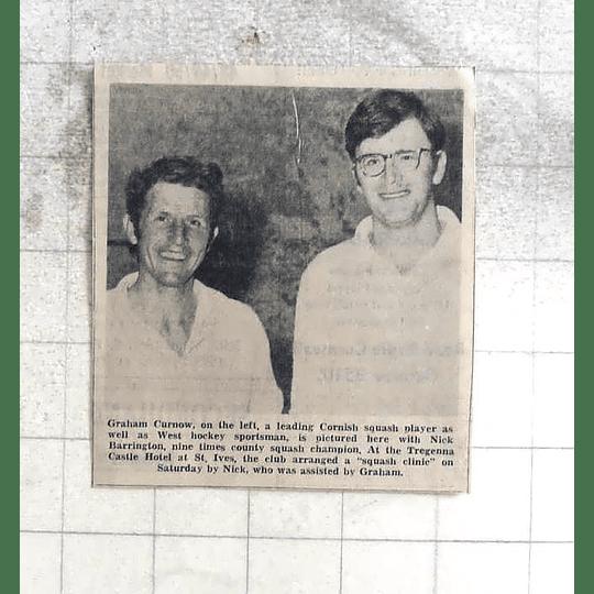 1974 Squash Clinic, Nick Barrington, Graham Curnow, St Ives