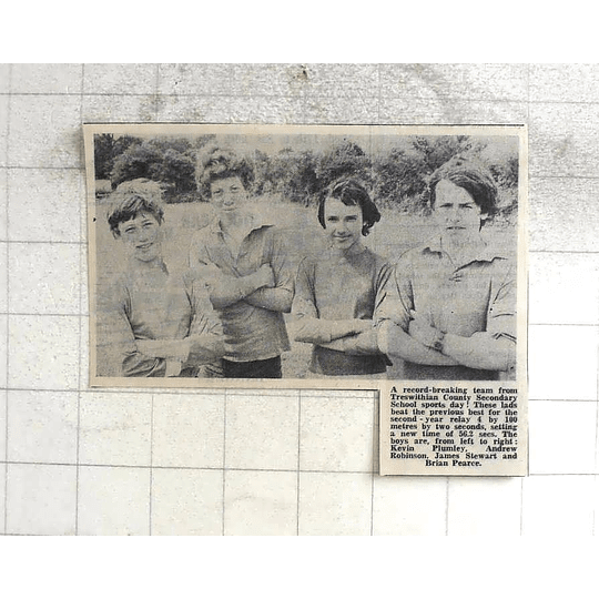 1974 Record-breaking Trewithian County Sports Day Plumley, Robinson, Stewart