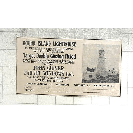 1974 Round Island Lighthouse Winter Prep By John Guiver Target Windows Hayle
