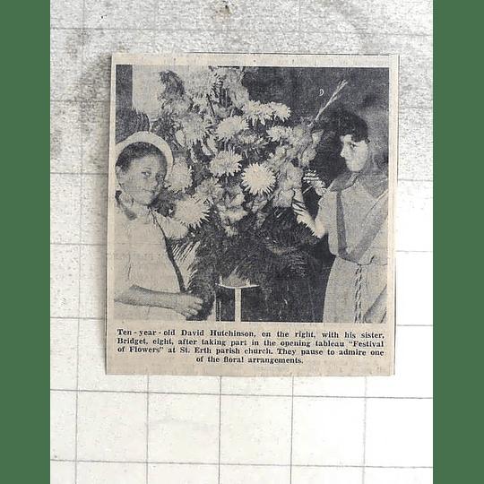 1974 10-year-old David Hutchinson With Sister Bridget St Erth Parish Church