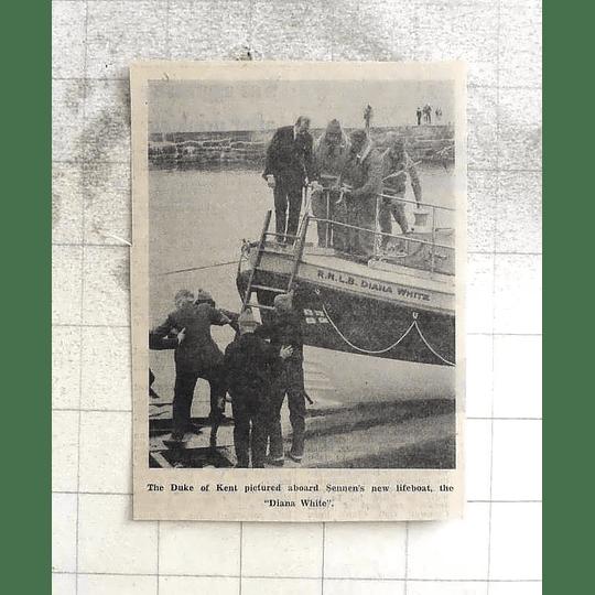 1974 Duke Of Kent Aboard Sennen's New Lifeboat The Diana White