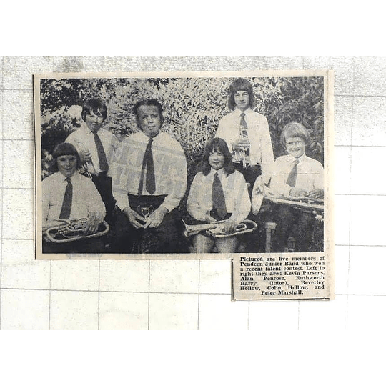 1974 Pendeen Jr Band Members Kevin Parsons, Penrose, Hollow, Marshall