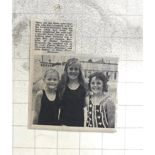 1974 Long-distance Swimmers , Cheryl Maycock, Julia Rogers Siobhan Rabitte