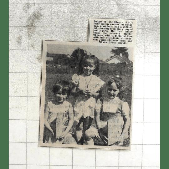 1974 Illogan Rfc Fairy Queen's Hayley Thomas, Juliet Shipman, Nicola Craze