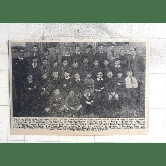 1974 1919 Photo Group St Mary's Church Of England School Redinnick Penzance