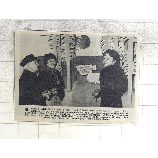 1974 Local Artist Charles Breaker, Jan Reynolds And Lindy Wildsmith Newlyn