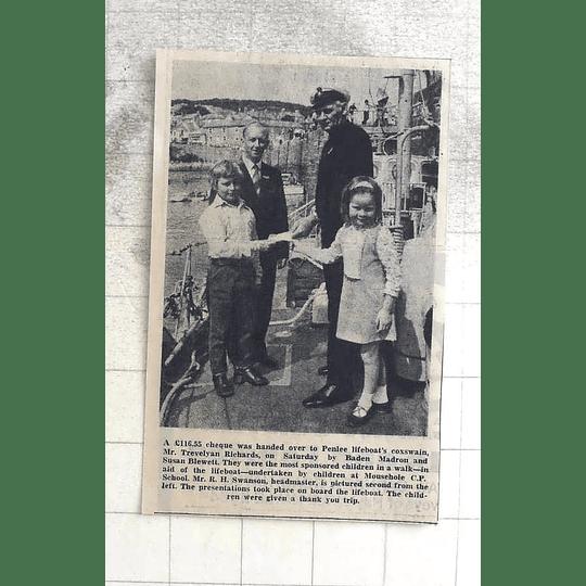1974 Sponsored Children Walk, Baden Madron Susan Blewett Penlee Lifeboat