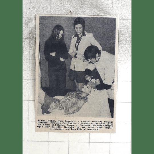 1974 Sandra Walton, Penzance Massage From Mrs Pat Downes, Jean Ellis