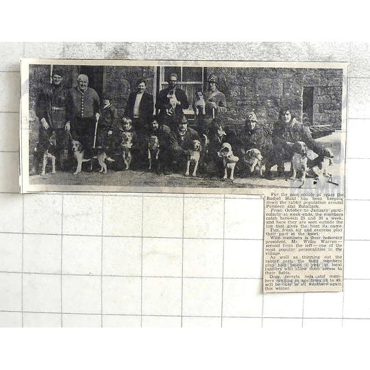 1974 The Radjel Hunt Keeping Down The Rabbit Population Around Pendeen