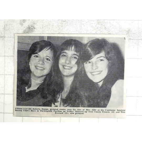 1974 15-year-old Roberta Dunne, Miss Abc, Cherie Francis Tina Everard