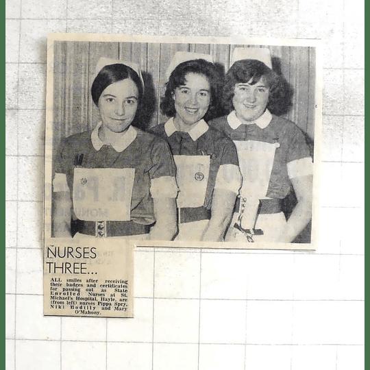 1974 St Michaels Hospital, Hayle Pippa Spry, Nicky Bodilly, Mary O'mahony