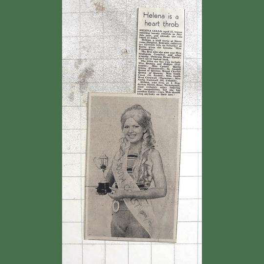 1974 Helena Lello Staff Nurse Barncoose Hospital Redruth