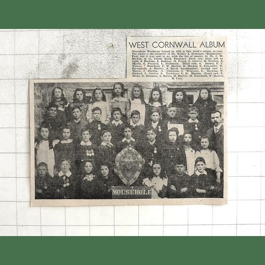 1974 Mousehole Wesleyan School Group Photograph 1906