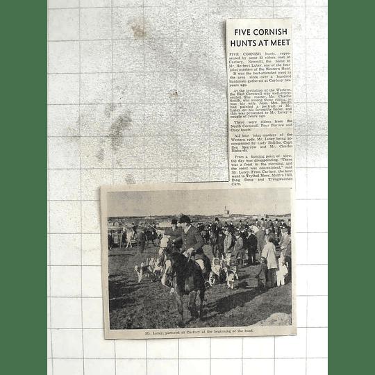 1974 Five Cornish Hunts Met At Carfury Newmill, Mr Lutey