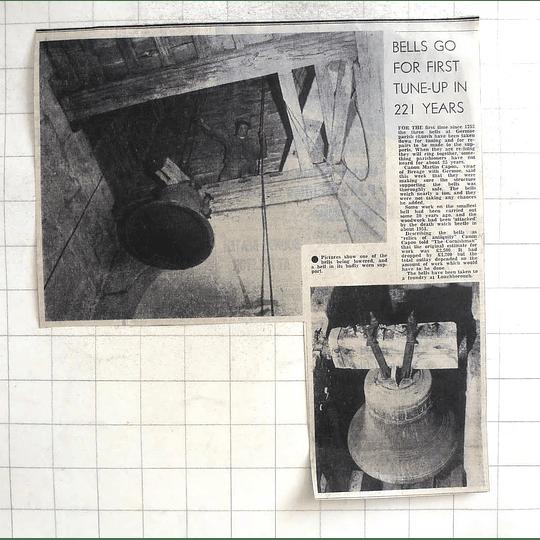 1974 3 Bells At Germoe Parish Church Taken Down For Tuning And Repair