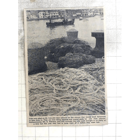 1974 Crab Nets Piled On St Ives Pier