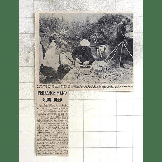 1974 Penzance David Tooley, Divers Repairing Well Tor Farm Temple