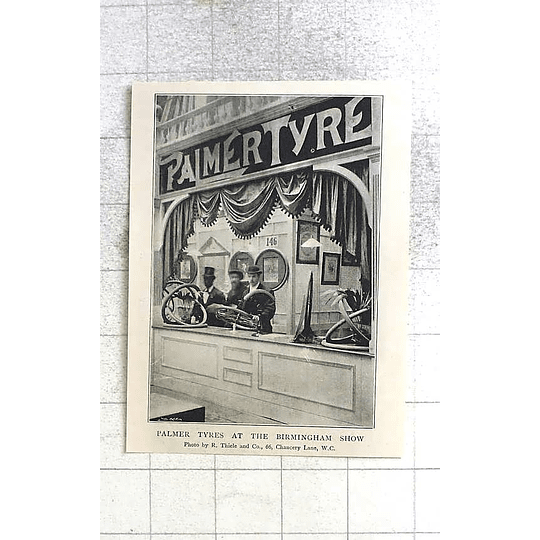 1897 Palmer Tyres At The Birmingham Show