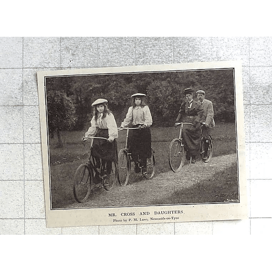 1897 Mr Cross And Daughters, Newcastle Upon Tyne